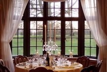Ideas for Bijou Wedding Venues / Ideas and examples of decorations by Stressfreehire for events and weddings at Silchester House, Berkshire; Botleys Mansion, Chertsey; Cain Manor, Hindhead and Notley Abbey, Thame.