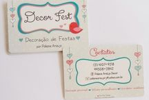 cartões de visitas