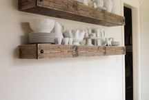 Farmhouse Style / Farmhouse and Fixer Upper inspired home decorating. Shiplap, wood beams, chippy paint, galvanized metal, clean and fresh, white walls, chicken wire, vintage, planks, barnwood, open shelving, industrial design
