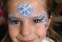 Ebs frozen face painting for Myzies party
