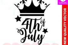 SVG CUT FILES - 4TH OF JULY/USA/AMERICA - CRICUT, SILHOUETTE CAMMEO