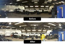 Lodge Tyres, Liverpool / New low energy lighting by Ozone Lighting Solutions.