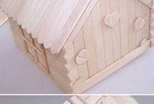 Căsuțe lemn