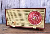 Vintage radio & record player