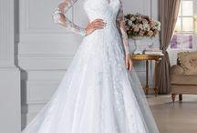 Casamento / vestido e cabelo