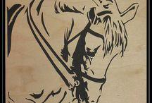 stencil caballos