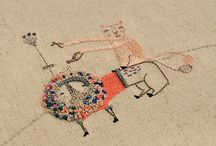 Textile art, embroidery