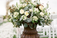 Wedding table  flowers / by Stacey Sweeney