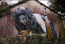 arts de la rue, graffs, collages....