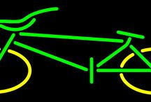 Bicycles and Motorcycles Bikes Neon Signs
