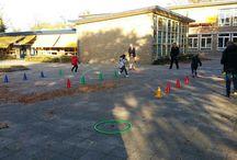 Spellen voor buiten / Sport en spellen die je kan doen buiten op een schoolplein, grasveldje of ergens anders in de wijk. Maar tijdens de pauze op school.