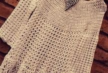 blusas blancas crochet