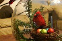 decoración navideña con pecera