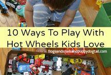 Hot Wheels car play