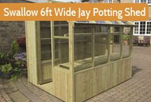 Potting Sheds / Torn between a greenhouse or shed? consider a potting shed as an alternative.