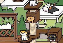 Neko Atsume / i love cats too much