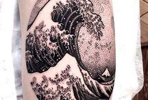 Tatuaggi Onda Giapponese