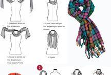 lencos e cachecol como usar