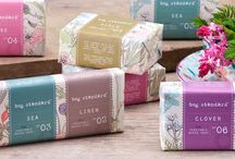 Bog Standard Soap / This is the whole range of Bog Standard Irish triple milled soaps. Inspired by the Irish Countryside and made in Ireland, bring the scent of Field, Rose, Moss, Clover, Linen, Sea, Orchard and Hedgerow into your home