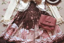Lolita inspiration - Dark color ways