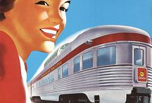 Railway Posters / Original vintage railway travel and tourism posters from around the world