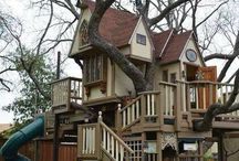 tree houses and outdoor kid fun