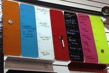Whiteboards, Magnetic Boards, Message Boards / Ideas and options for tacking / pinning your messages and notes on the wall