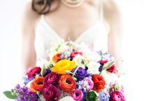 June flowers for Emily & Joe / A bright cheerful June wedding.