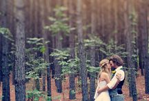 a woodland wedding// / crazy kids running barefoot through the forest