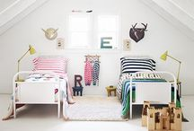 Little Rooms / Rooms for kids after the cribs are gone. Gorgeous boy and girl spaces to make children's living fun- especially shared rooms!