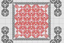 Blackwork / схемы вышивок в стиле блэкворк