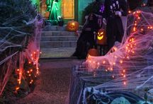 Halloween decorating outside