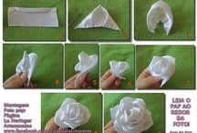 flores de tecido e papel