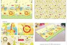 Bumper Playmat™ Fisher Price  / A one-piece playmat made of heavy-duty, non-slip and eco-friendly soft PVC material. It has colourful reversible printed surface that comes with educational words and numbers. It is waterproof, easily cleaned with a damp sponge/cloth and soap.  Why Bumper Playmat? It provides comfortable cushioning and padding for your child's play area.   A safe and ideal place for crawling, laying and sitting babies; prevent injuries from knocking against hard floor sufaces.