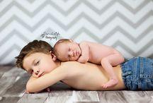 foto's baby met broer/zus