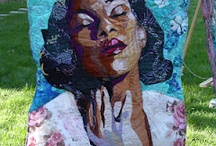 Fiber Art Portraits / Faces tell stories that portrait artists see, feel, and come to know as they craft their pieces into being