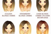 Окраска волос прически