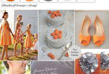 Wedding theme orange