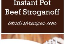 Easy Instant Pot Dinner Recipes / These easy and quick Instant Pot Dinner Recipes are one pot meals that the entire family will love!
