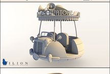 vehicle 3D cartoon