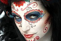 Dia de los muertos | Sugar Skulls  /   Artists have enjoyed the use of the skull as an artistic platform for centuries. Sugar Skull face art is just that - art, using the whimsical nature of the sugar skull with tribal and artistic influence.