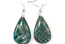 Circuit Board Earrings / Earrings made from recycled circuit boards