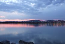 Lake Velence / Lake Velence is situated southwest from Budapest