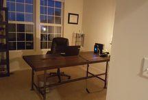 Repurposed wood / Refurbished Wood Door turned into a desk.