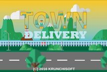 TownDelivery / This is my first Game.Available on Google Play #flatdesign #mobilegame #android #casual #indiegame