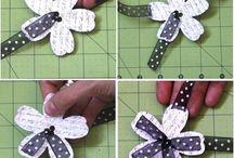 Ribbon flower embellishment
