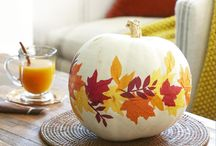 Autumn Home Inspiration  / From Fall slipcovers in solids and prints, to pumpkins, leaves and owls, here are this Autumn's decorating trends.