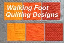 Walking foot quilting