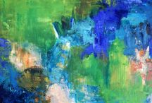 Malerier malet af Gitte Brandstrup / Mine abstrakte malerier kan alle købes. Mail kontakt@livetsgalleri.dk eller ring 28687035 Se mere på www.livetsgalleri.dk