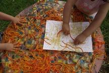 Children: Sensory Play / Lots of messy play ideas and sensory bin ideas / by Daisy Laparra